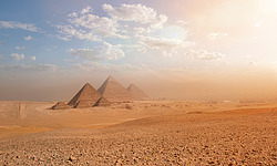 Grand pyramids of Giza in Egypt