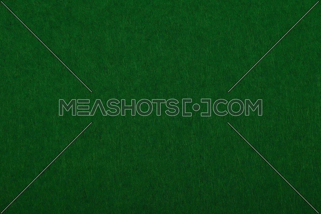 Dark green poker table felt soft rough textile material background texture close up
