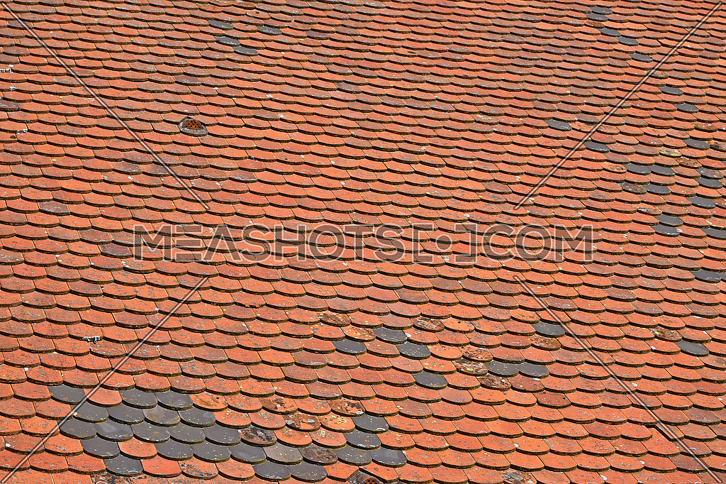 Photo For Old Weathered Vintage Traditional Red Brown Ceramic Roof