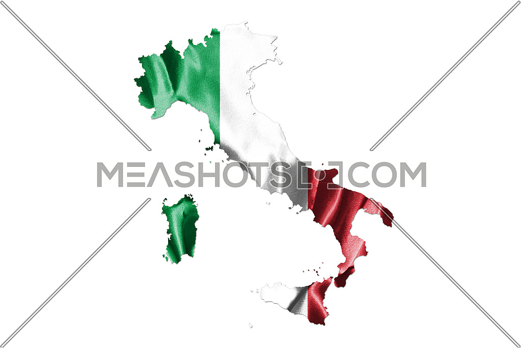 Map of Italy With Italian Flag. Official colors and proportion illustration