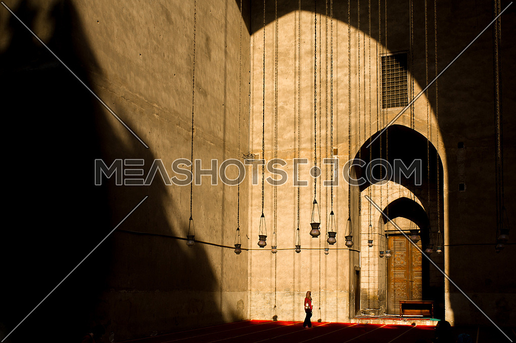 Shades and light showing the majisctic Northern corner at El Rafai Mousque, Cairo, Egypt