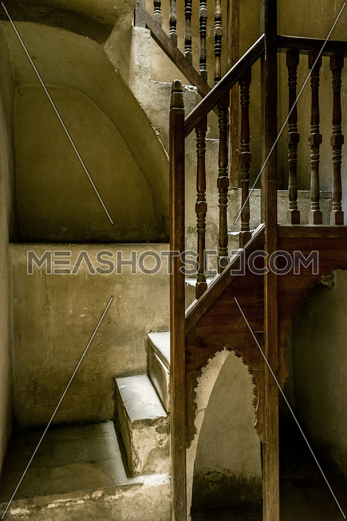 interior stairs of el sehemy historic old house in cairo egypt