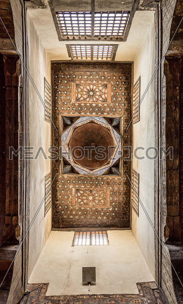 historic ceiling in ElSehemy House cairo egypt