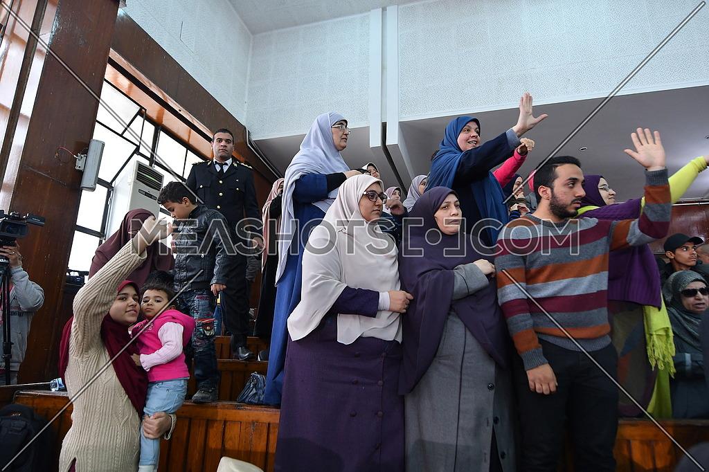 Muslim Brotherhood People During court at 'Borders Break' case in front - December 2018.