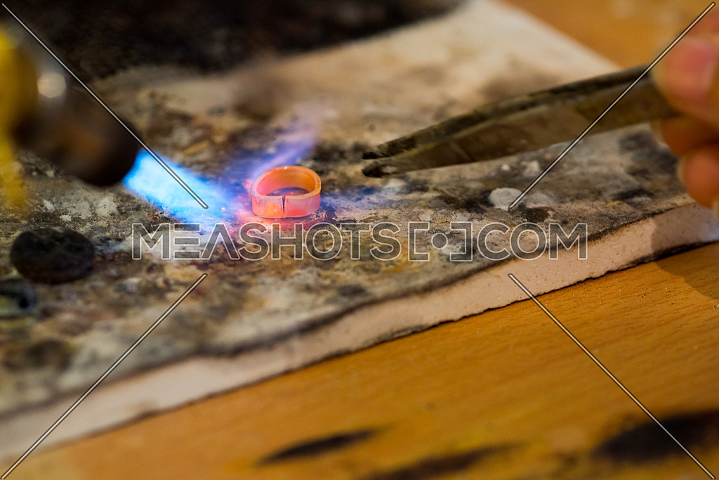 Burning Silver to make a ring