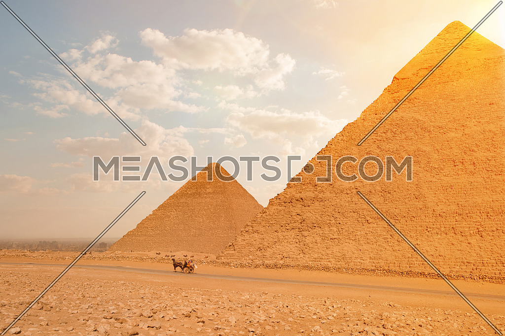 The great pyramids of giza in EGYPT