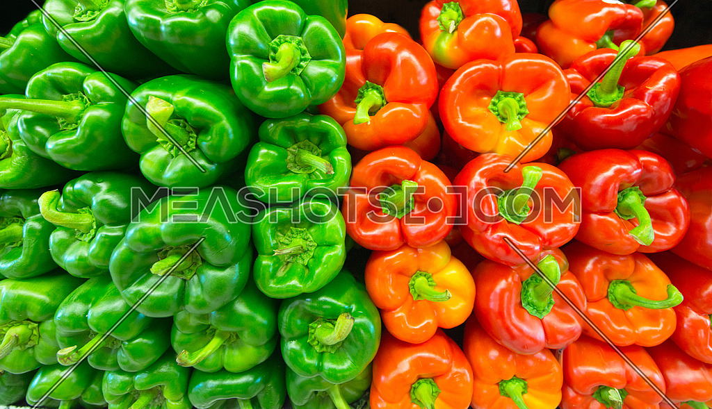 Red and Green bell pepper