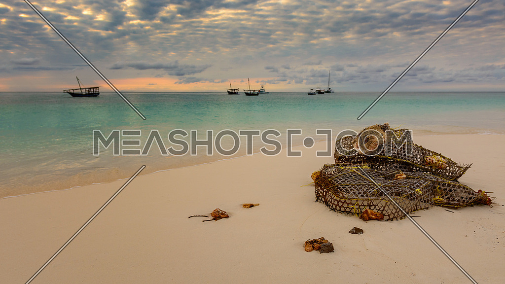 A nice view of nungwi beach situated at north of zanzibar,Tanzania.