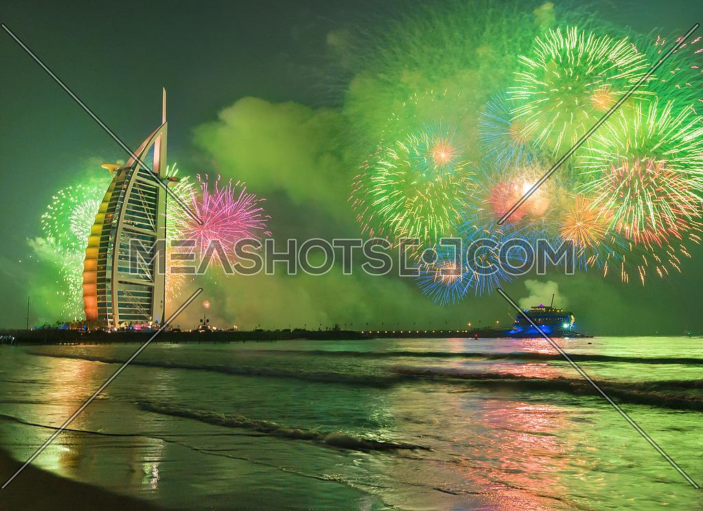 Burj Al Arab Green Fireworks