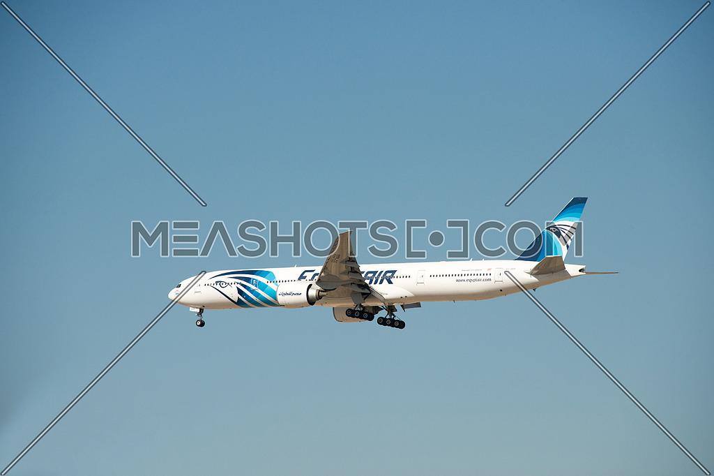 EgyptAir Boing 777-300 ER Airplane landing
