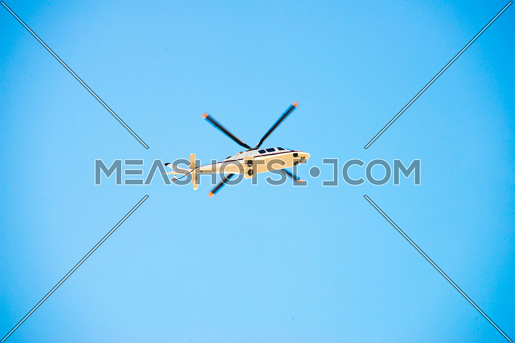 helicopter roaming the sky