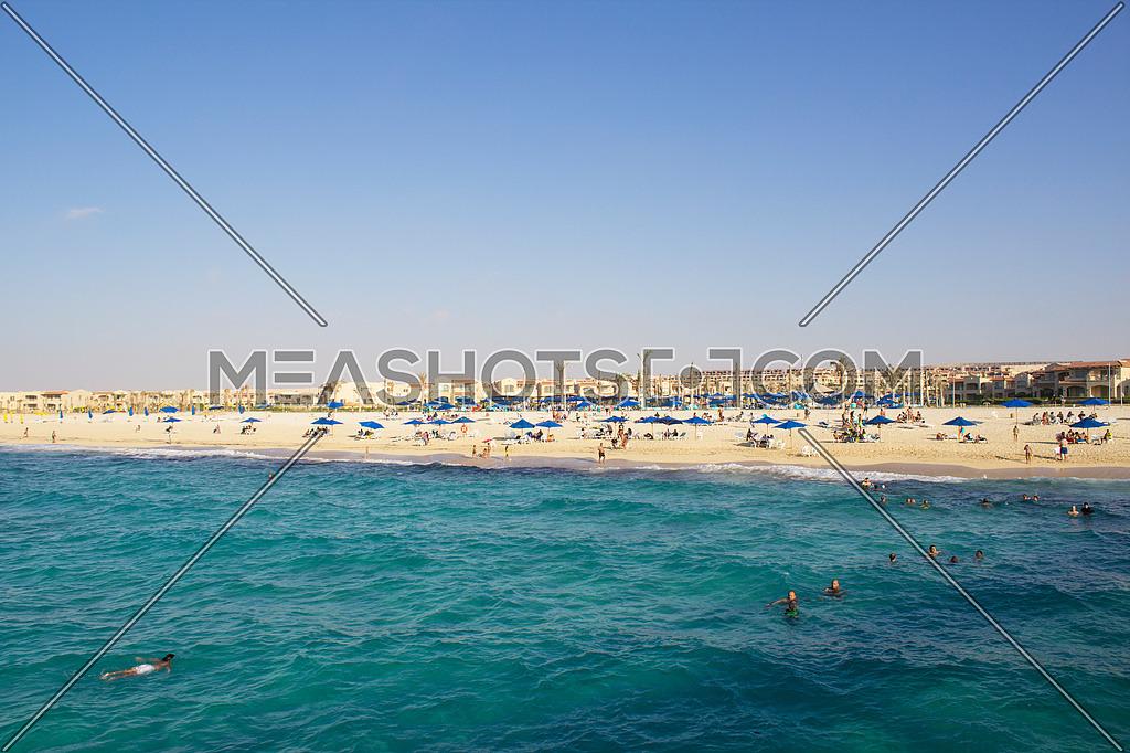 View of the beach - Mediterranean sea