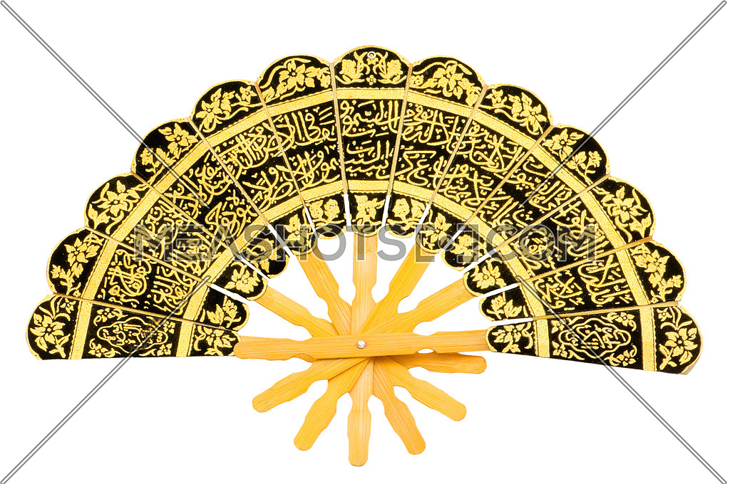 Fan with arabic isolated on the white