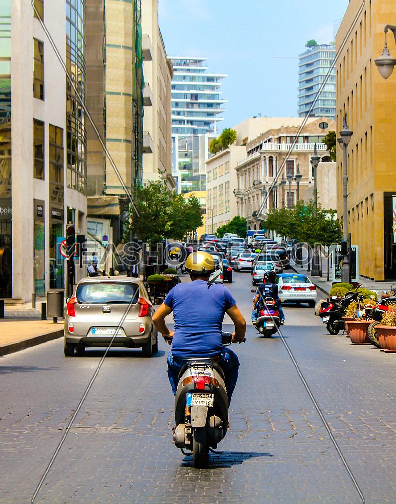 Street shot in Beirut Lebanon