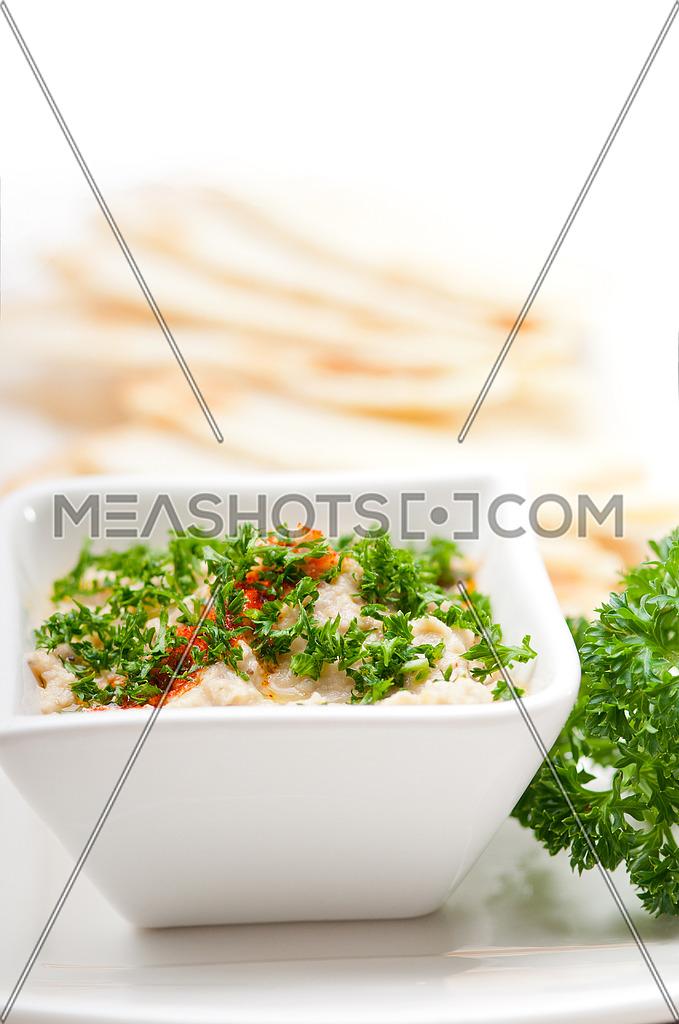 fresh traditional moutabal baba ghanoush eggplant dip