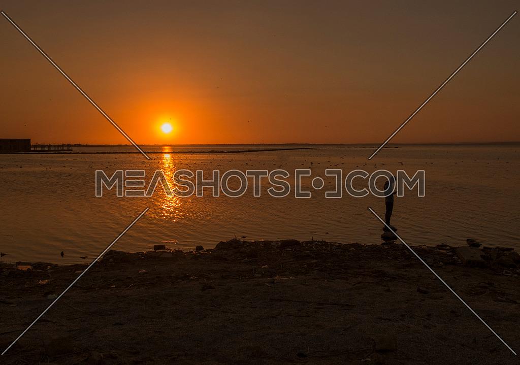Sunset at Al Qanatir Al Khayriyah in Egypt