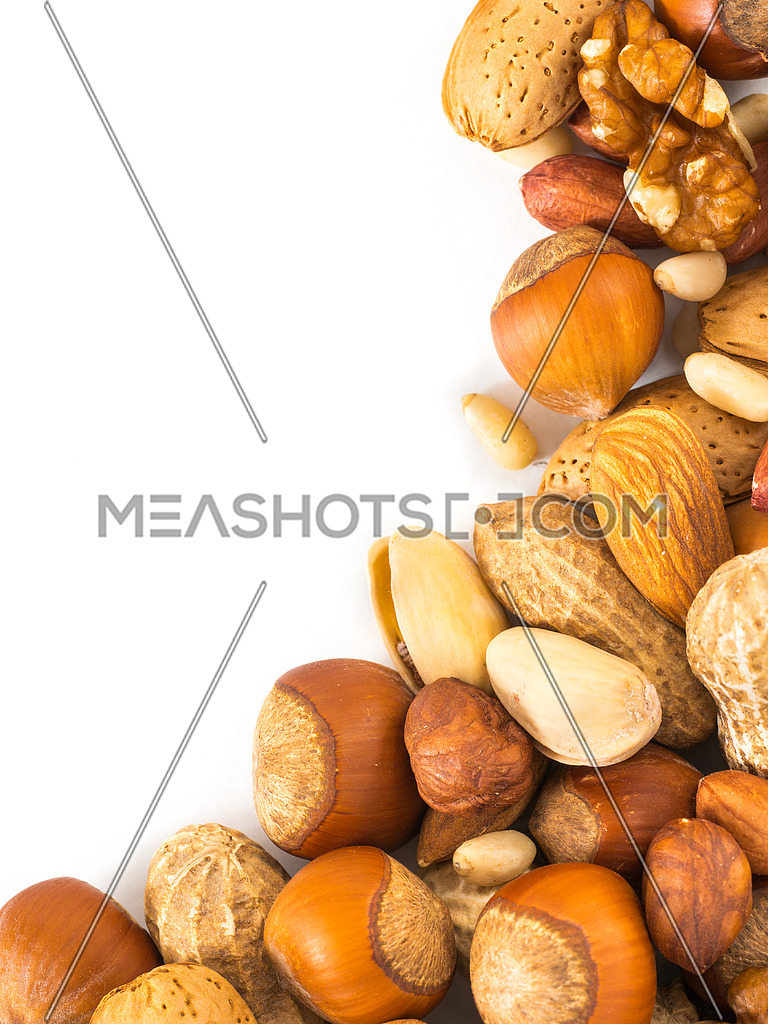 Background of mixed nuts with copy space-128622   Meashots
