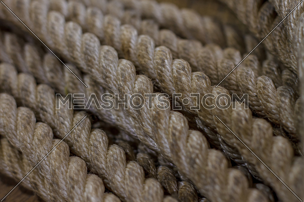 Strands of Old Strong marine beige rope