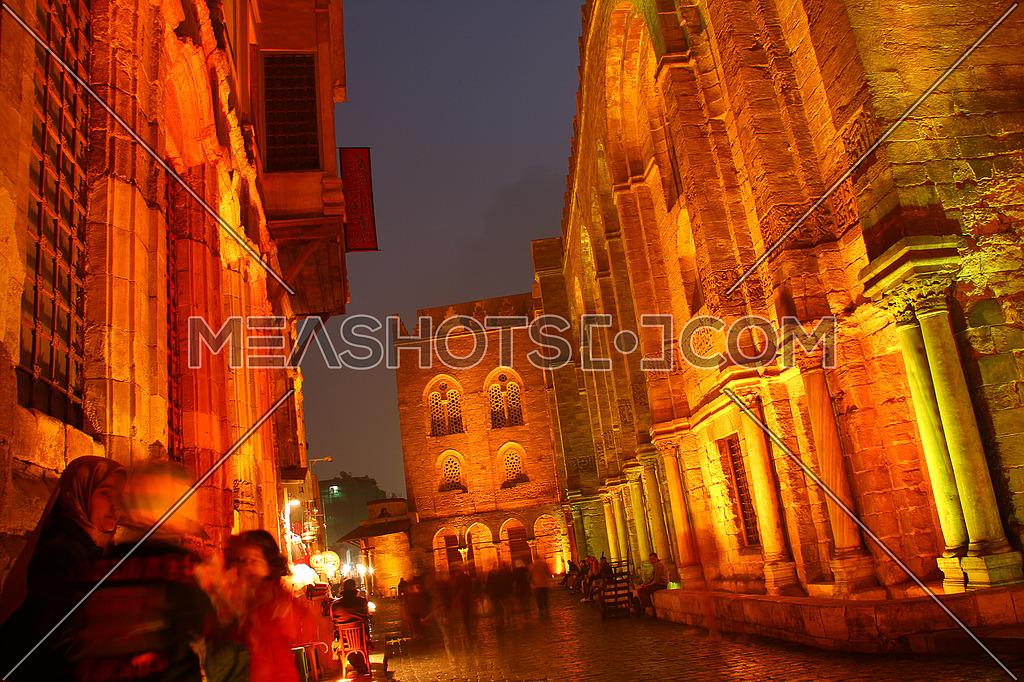 El Moez Street Old Cairo at night