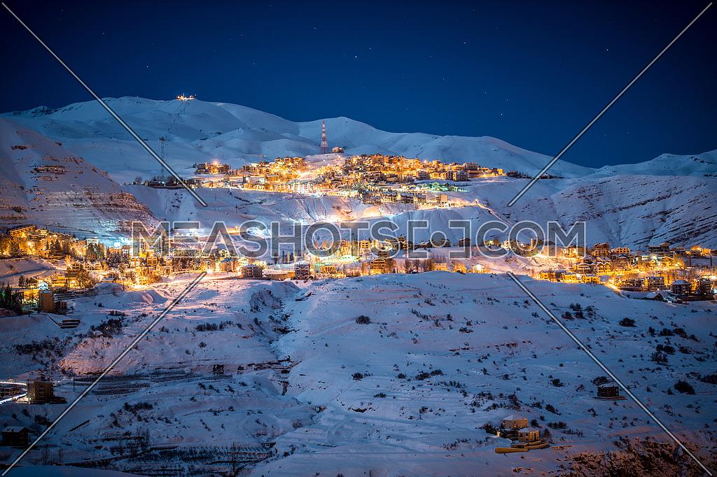 Faraya Mountain during Winter in Lebanon