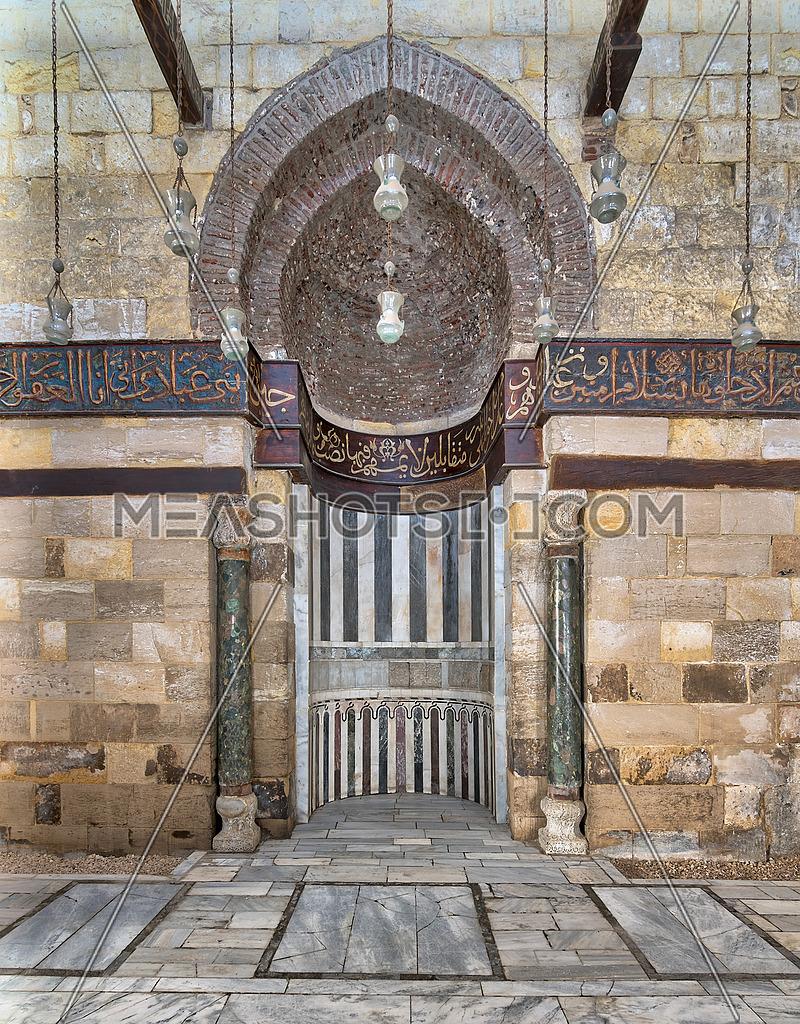 Mihrab (Niche) of Mausoleum of As-Saleh Nagm Ad-Din Ayyub, Al Moez Street, Old Cairo, Egypt