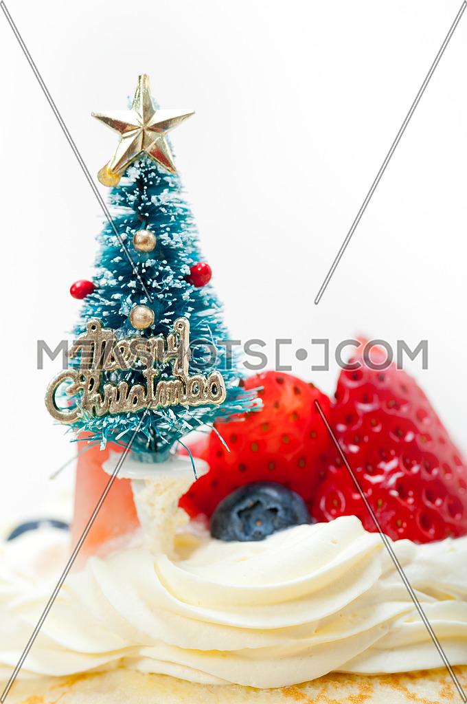 Christmas Tree On Crepe Pancake Cake 29552 Meashots