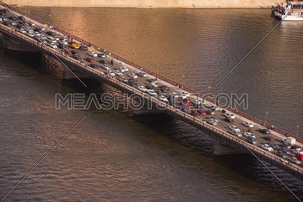 cairo downtown traffic jam in rush hour