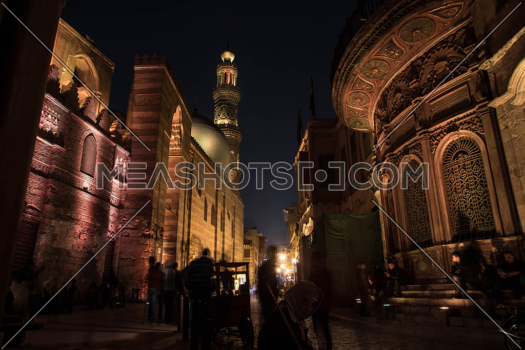 Al Moaz Street, Cairo, EGYPT at Night