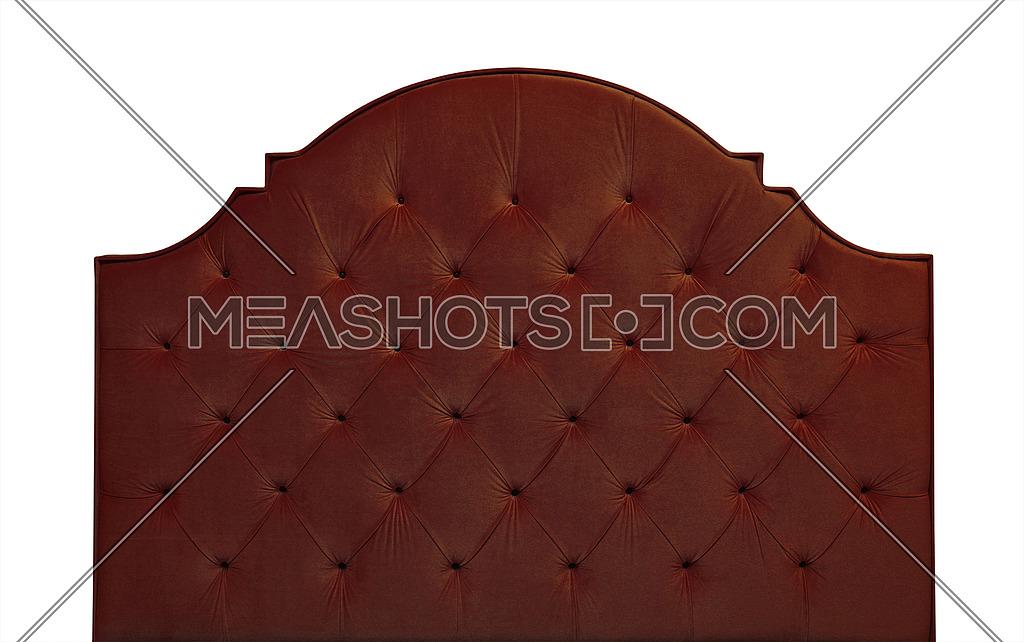 Brown Velvet Bed Headboard Isolated On White 201723 Meashots