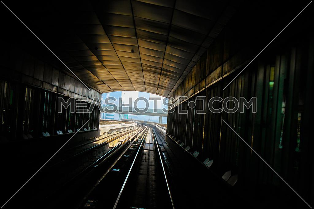 Dubai Metro POV going out of the station