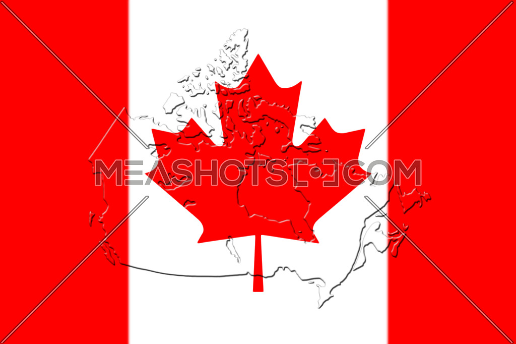 Map Of Canada Red.Canadian National Flag With Map Of Canada On It 3d Rendering 136253
