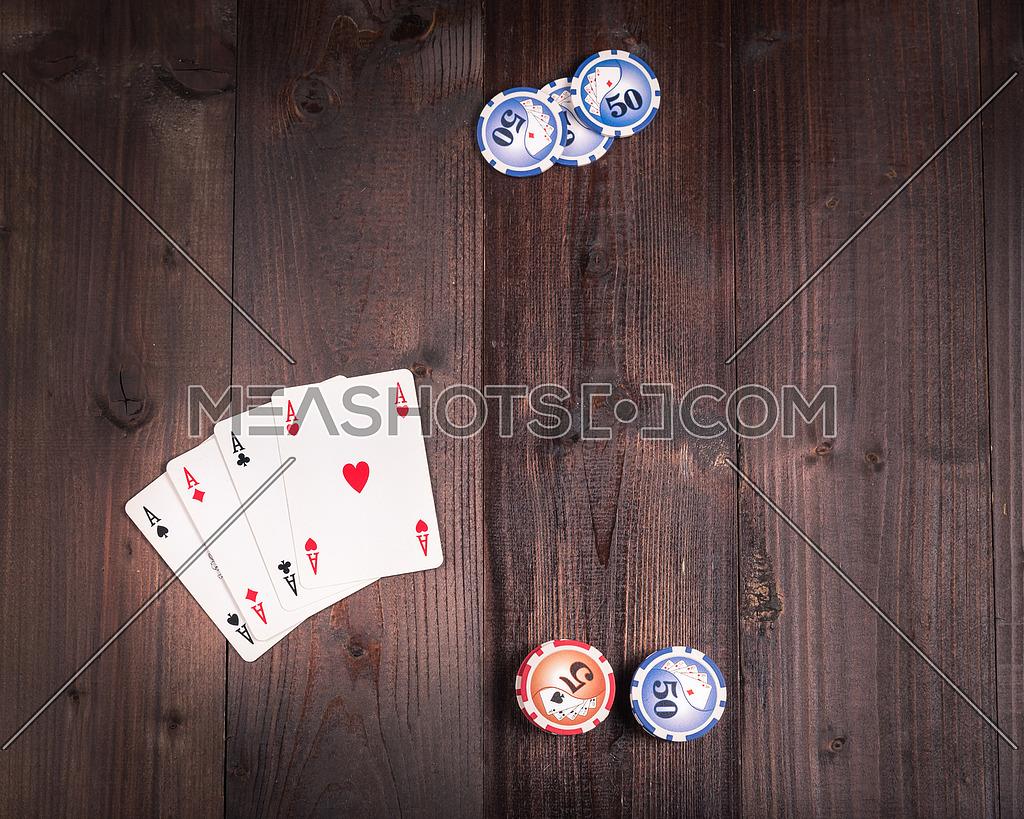 Old vintage american poker above