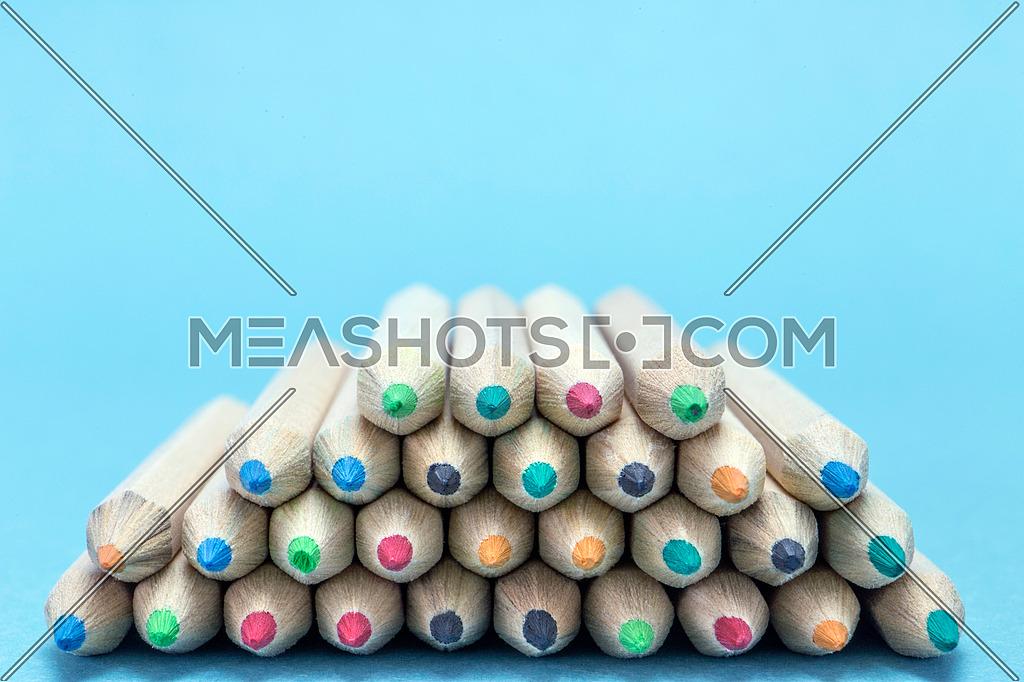 Texture of colored pencils, conceptual image