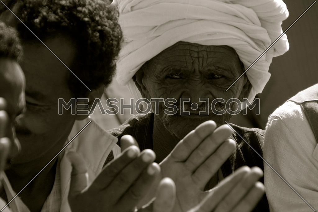 An old man from the Ababda tribe of Southern Egypt during the 1st Characters of Egypt Festival that took place in Wadi El jemal