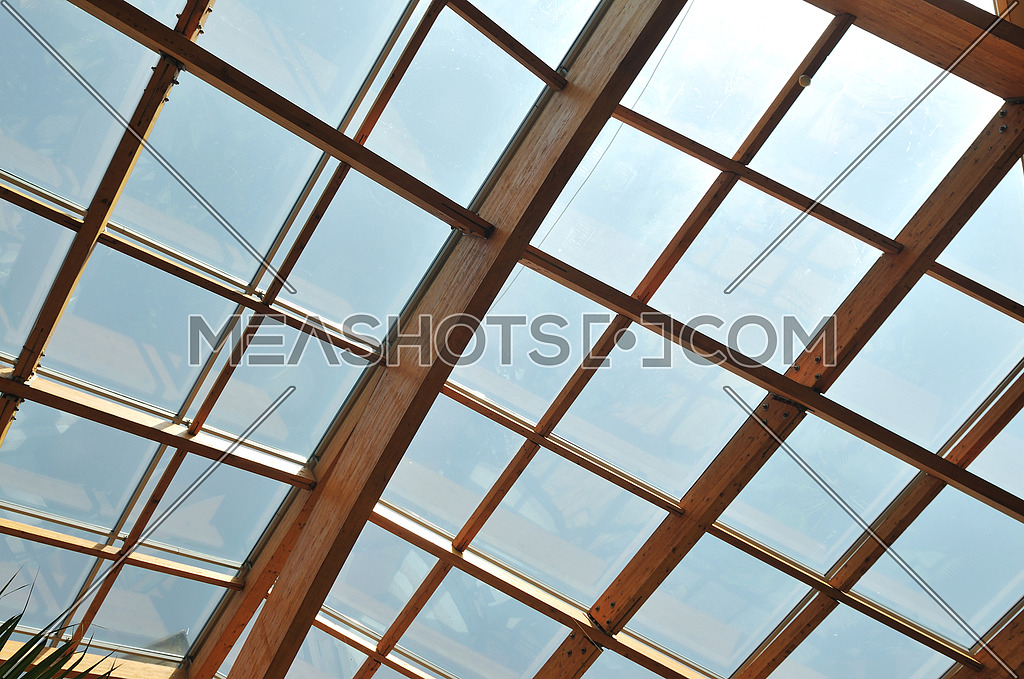 Palm And Wooden Roof Construction 40524 Meashots