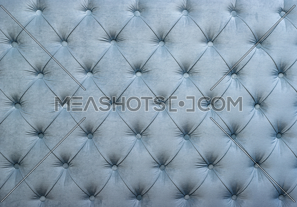 Blue Capitone Tufted Fabric Upholstery Texture 159624 Meashots