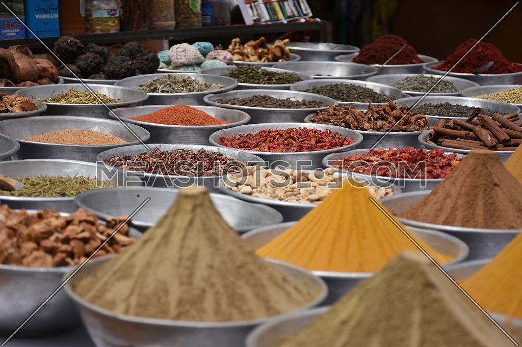 Spices in a Nubian Village market in Aswan