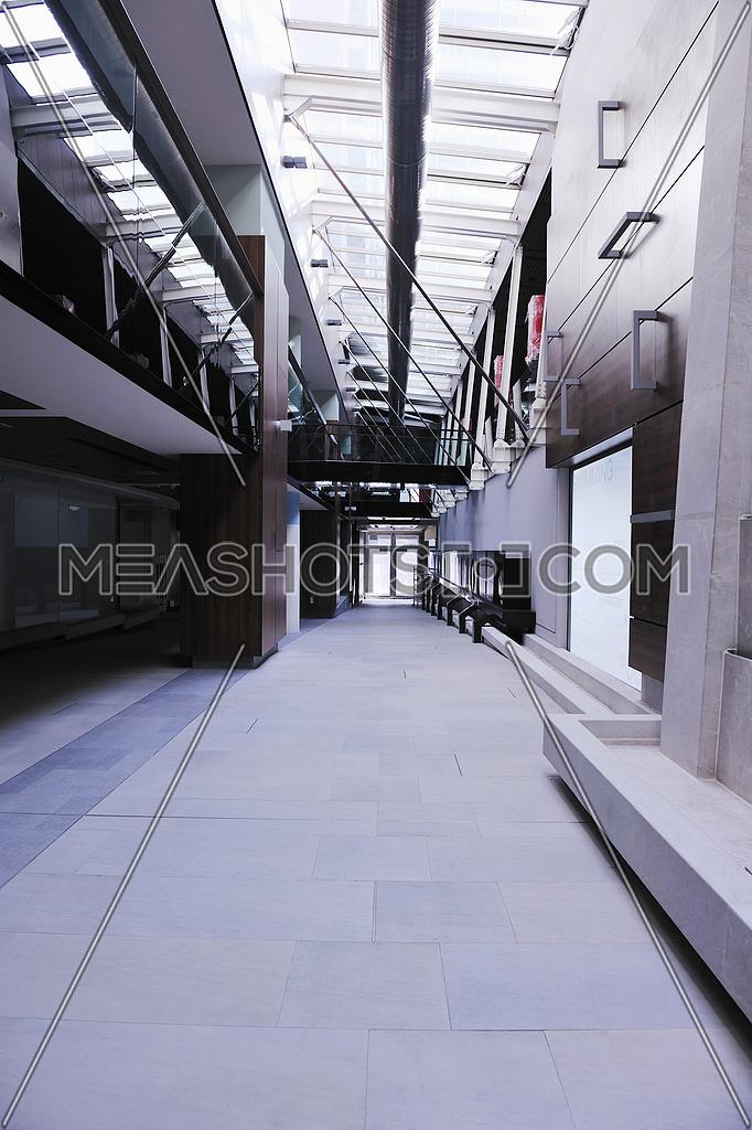 bright modern building interior concstruction
