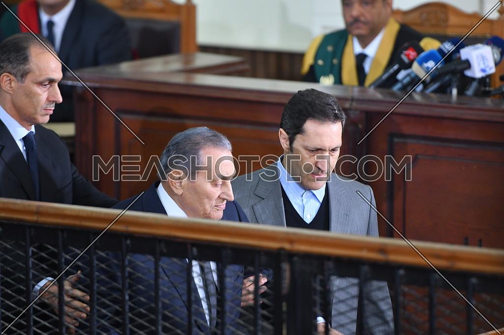 Former Egyptian president Hosni Mubarak testifies in court at 'Borders Break' case - December 2018.