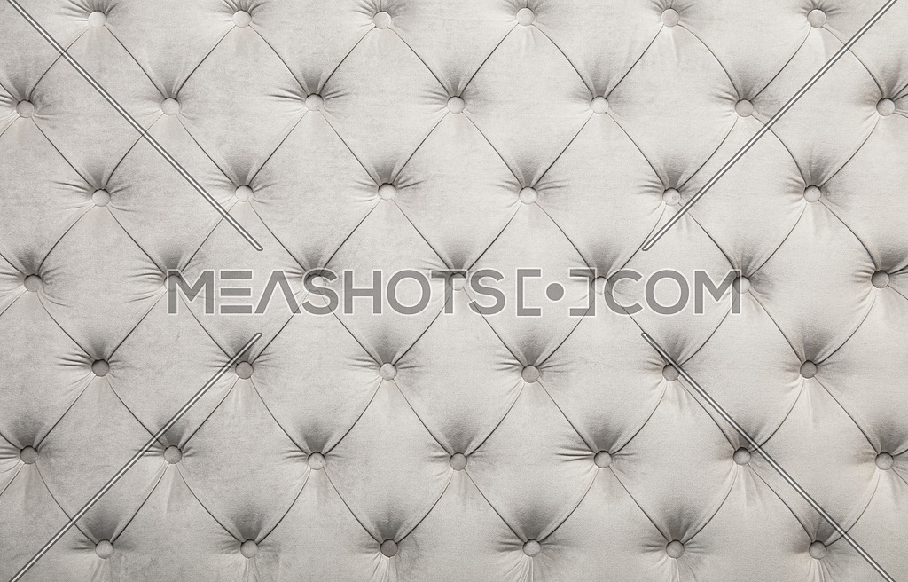 White Capitone Tufted Fabric Upholstery Texture 161874