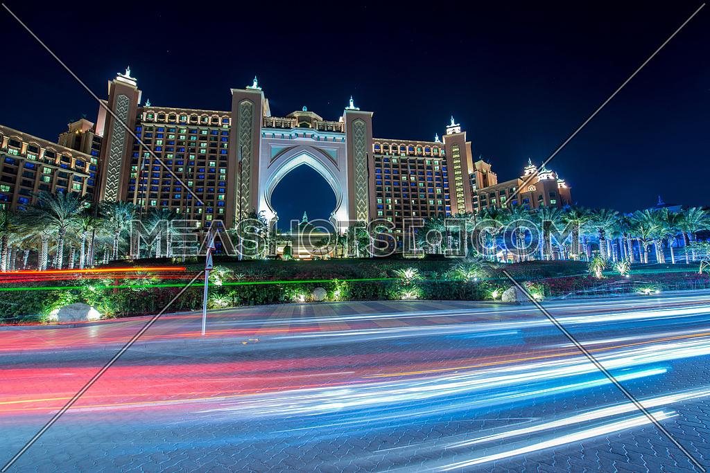 Dubai - JANUARY 8, 2015: Atlantis the Palm Hotel on January 8 in UAE, Dubai. Atlantis is luxury hotel in Dubai