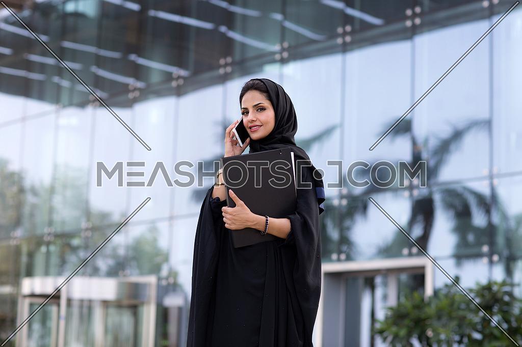 Saudi lady on a call