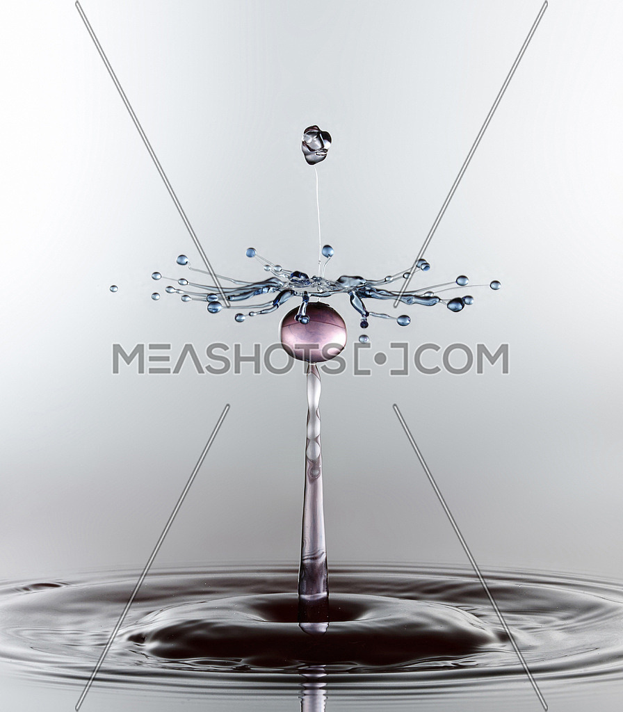 A water drop captured with high shutter speed