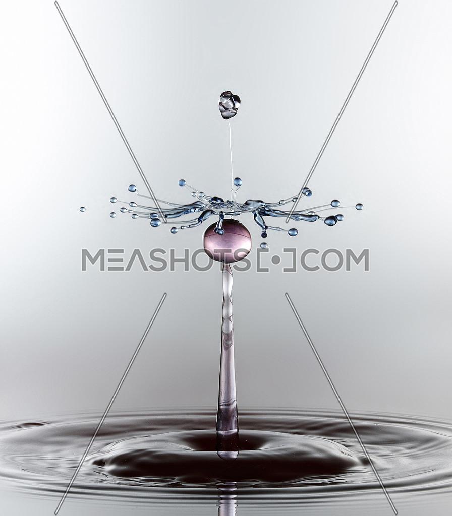 A water drop captured with high shutter speed