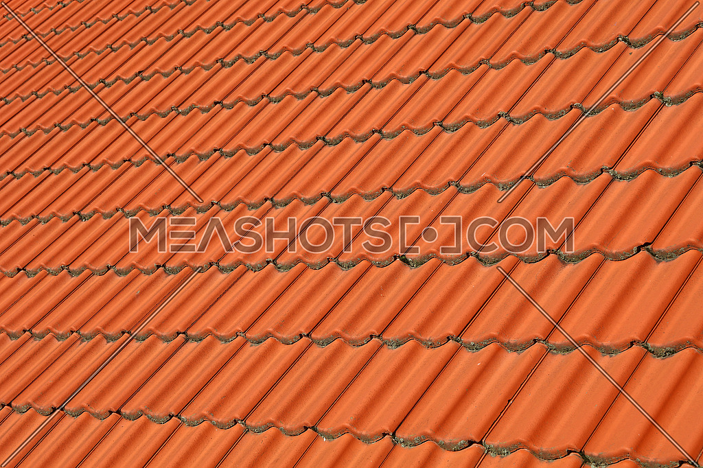 Red Brown Ceramic Roof Tiles Pattern Background 159645 Meashots
