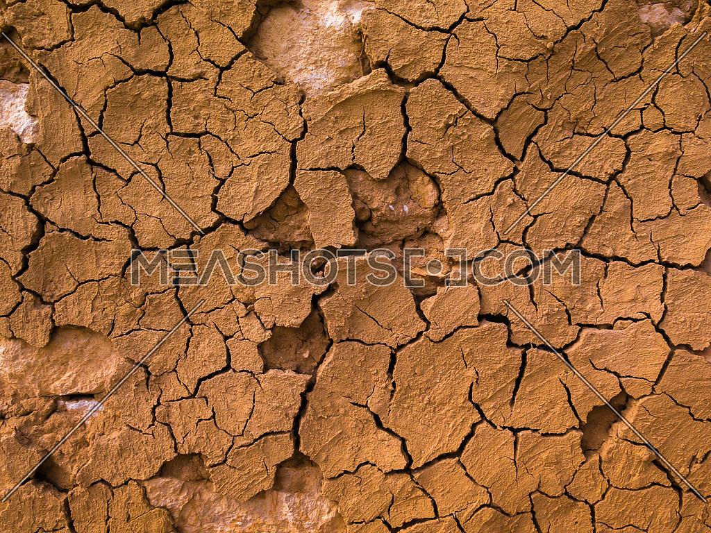 Cracked soil background desertification