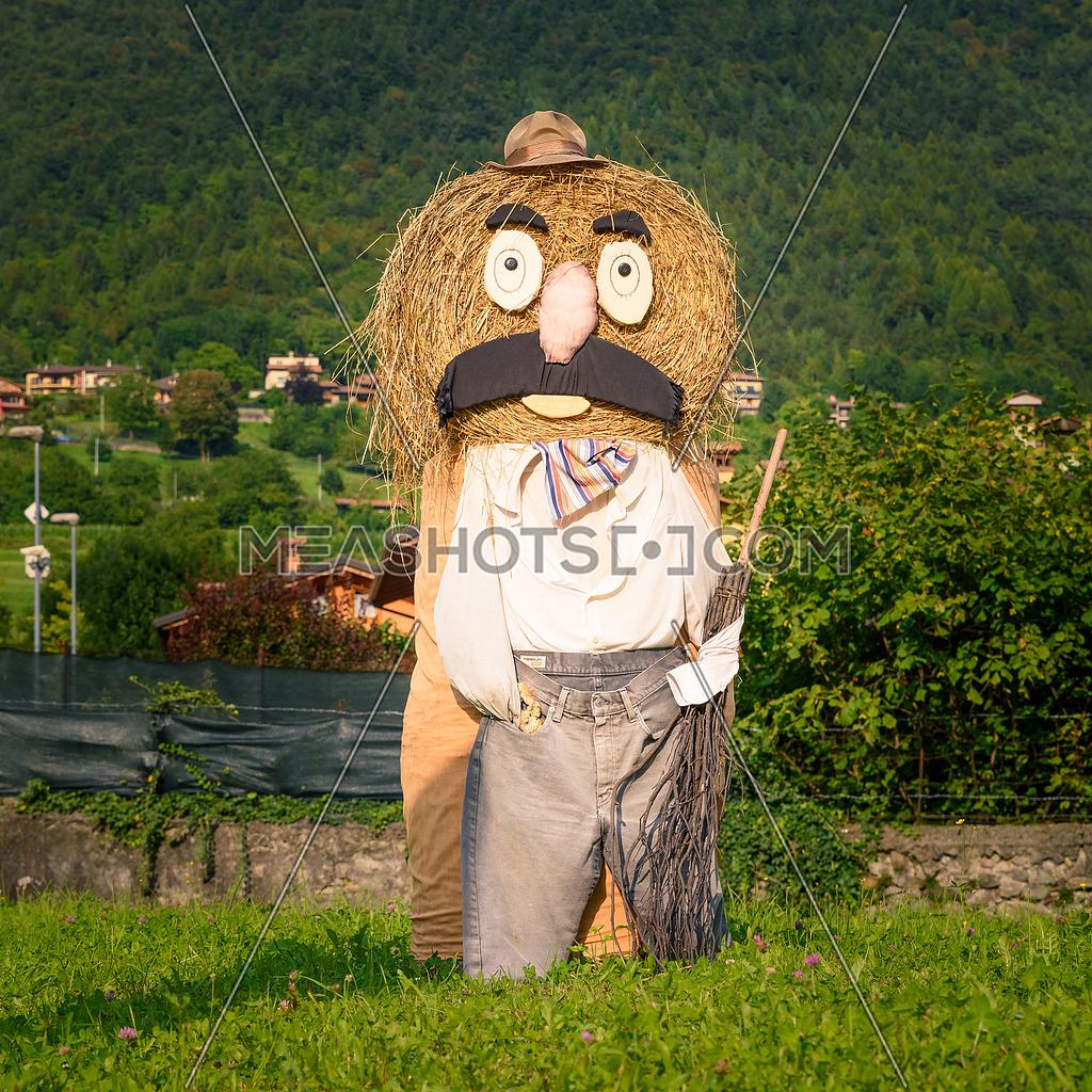 Farmer straw dolls square photo