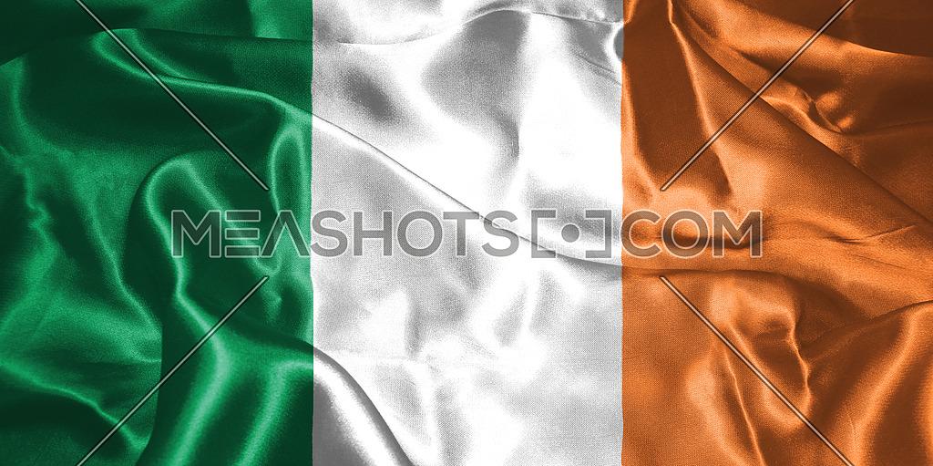 St. Patrick's Day. Flag Of Ireland 3D illustration