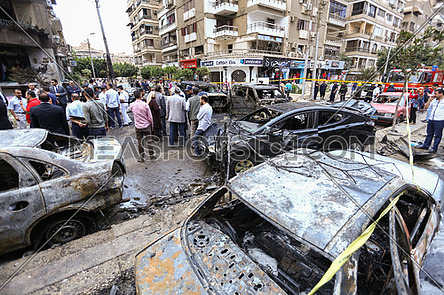 The Egyptian prosecutor was killed by a bomb that targeted his m
