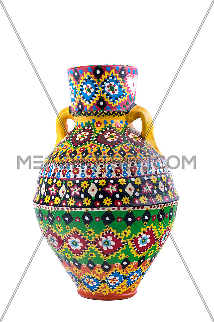 Egyptian decorated colorful pottery vessel (Kolla)